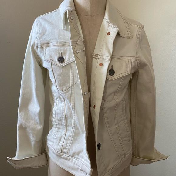 JCrew Cream Denim Jacket